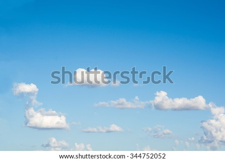 Blue sky clouds in the day. - stock photo