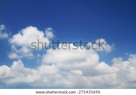 Blue sky daylight background - stock photo