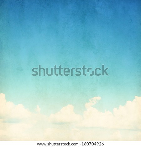 Blue sky grunge background. - stock photo