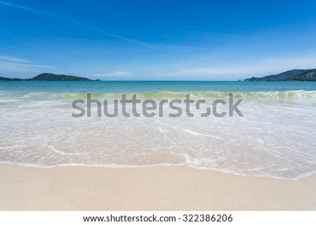 Blue sky in Patong beach  - stock photo
