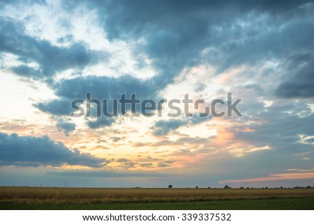 blue sky, natural clouds, nature series - stock photo