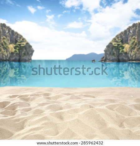 blue sky ocean and sea  - stock photo