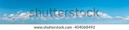 Blue sky ,panorama sky background - stock photo