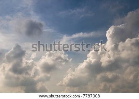 blue sky photo useful as a background image - stock photo