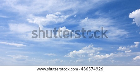 blue sky with beauty clouds