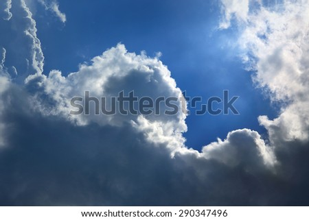 Blue sky with cloud. - stock photo