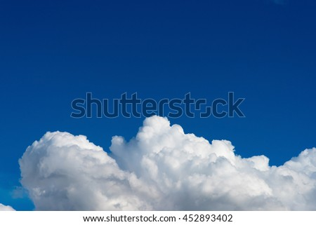 blue sky with clouds and blank space for text - stock photo