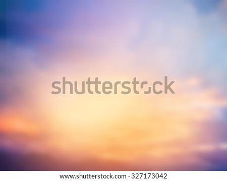 Blue sky with clouds and sun light - stock photo