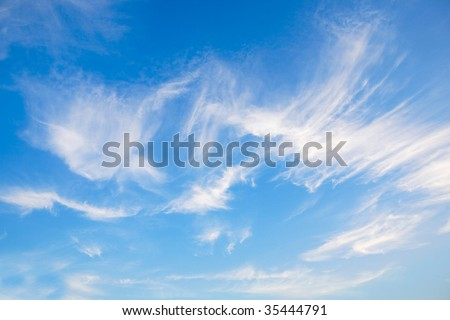 Blue sky with clouds as a background
