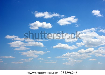 blue sky with clouds as part of the heavenly landscape