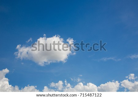 Blue sky with clouds nature background