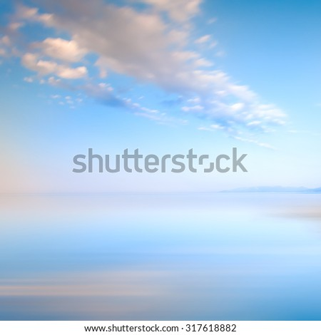 Blue sky with clouds on the sea landscape - stock photo