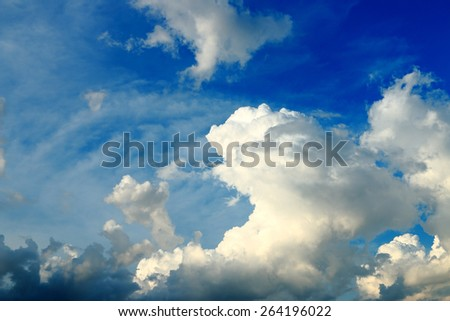 Blue sky with cloudy. - stock photo