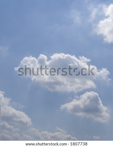 Blue sky with white clouds - stock photo