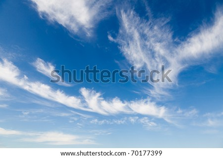 Blue sky with white clouds, natural background