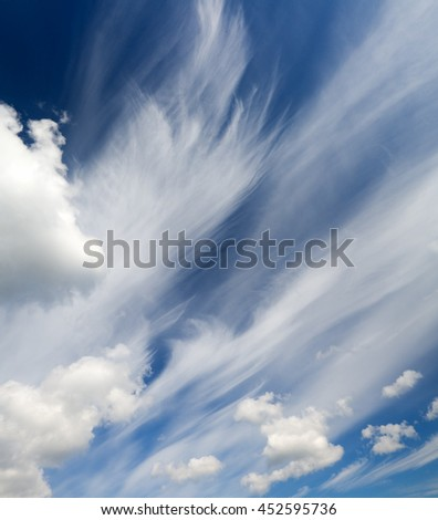 blue sky with white clouds.Nature composition. - stock photo