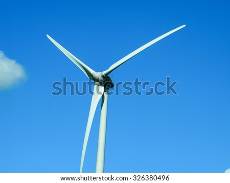 Blue sky with windmill Technology