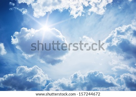 Blue skylight. Composition of nature. - stock photo