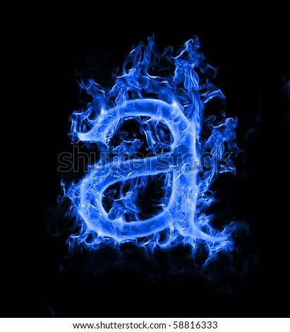 R Letter In Blue Fire Blue Fiery Stock Image...