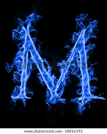 The gallery for --> Letter A Blue Fire