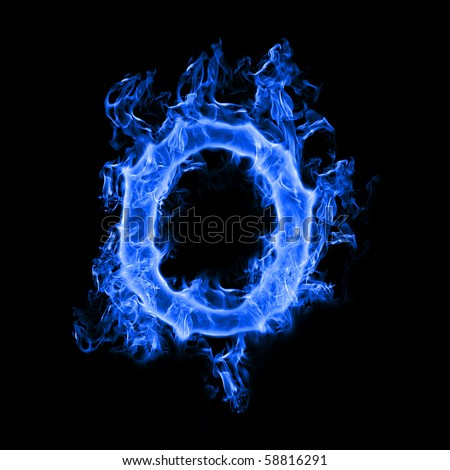Blue Smoke Letter O Stock Photo 58816291 - Shutterstock