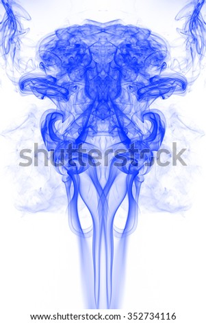 blue smoke on white background, smoke background, blue ink background, beautiful blue smoke
