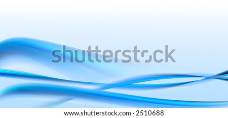 Blue smooth waves background
