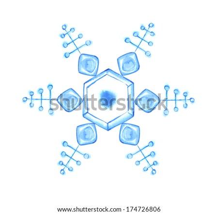 Blue Snowflake - stock photo