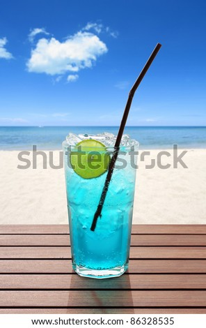 blue soda with lime