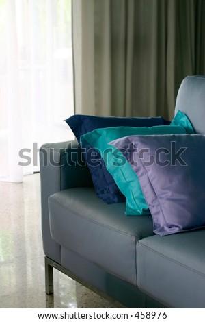 Blue Sofa - stock photo