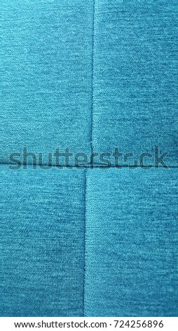 Blue Sofa seat fabric texture in office