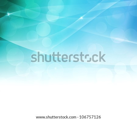 Blue Soft Abstract Background - stock photo