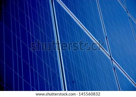 Blue Solar Array - stock photo