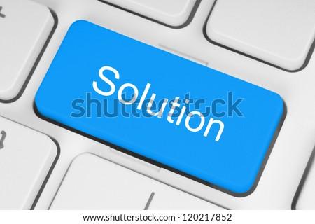 Blue solution keyboard button