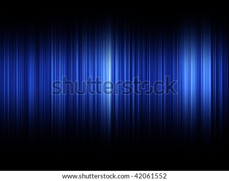 Blue Sound Waves abstract background - stock photo
