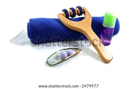 blue spa - stock photo