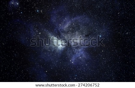 Blue space background - stock photo
