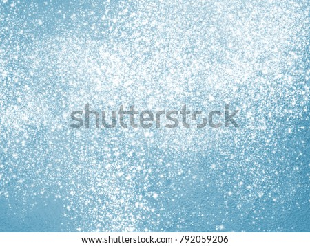 Blue sparkle background with glitter