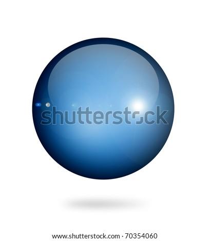 Blue sphere on white background. Object illustration - stock photo