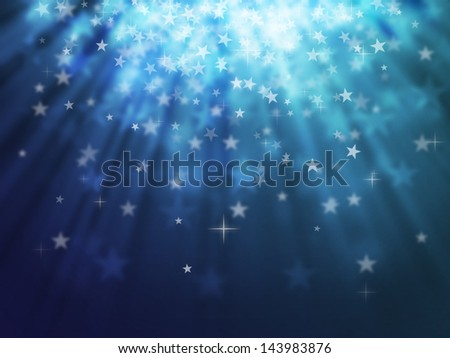 blue star bokeh abstract light backgrounds