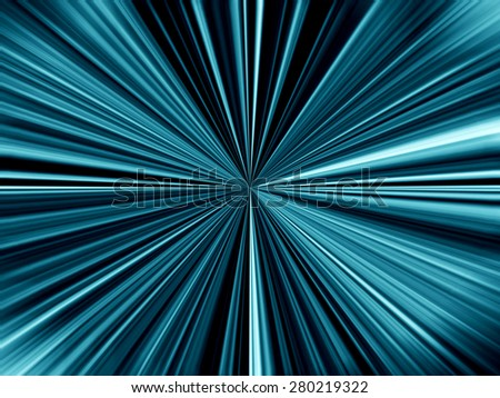 Blue Starburst  - stock photo