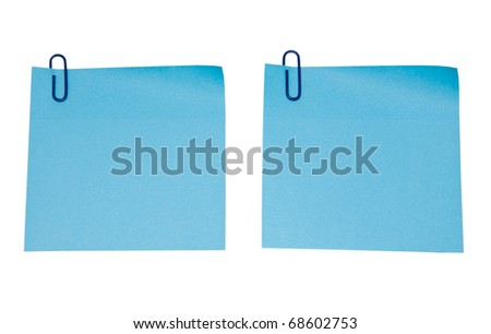 blue sticker isolated on white