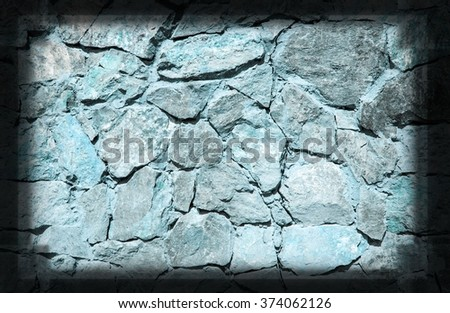 Blue stone grunge background wall dirty texture - stock photo