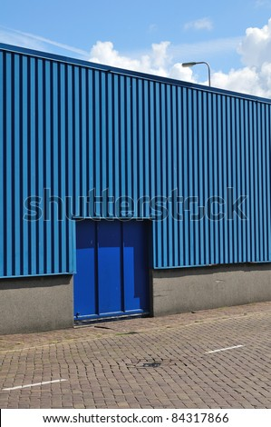 Blue storage gate