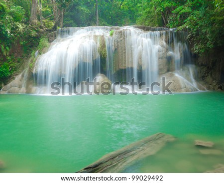 Blue stream waterfall in Thailand