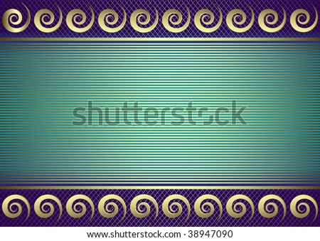 Blue striped card  with place for the text - stock photo