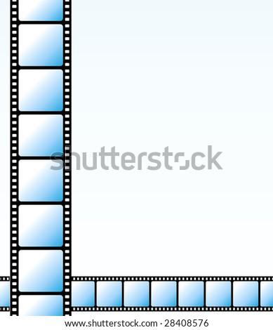 Blue strips background - stock photo