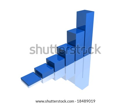 blue success graph