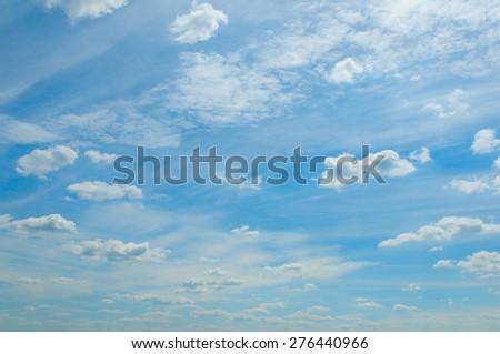 Blue Summer Cloudy Sky - stock photo