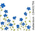 blue summer flowers, rasterized vector. Vector file is also in my portfolio. - stock photo